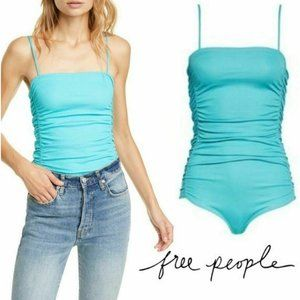 Free People ~ On Your Side Ruched Bodysuit